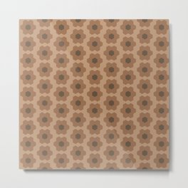Floral No. 2 -- Brown Metal Print