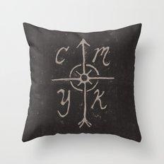 CMYKompass Throw Pillow