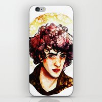 grantaire iPhone & iPod Skins featuring Grantaire watercolour by chazstity