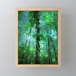 Forest Of The Fairies Green Blue Framed Mini Art Print