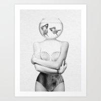 Art Prints featuring Pisces  by Jenny Liz Rome