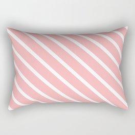 Bubblegum Pink Diagonal Stripes Rectangular Pillow