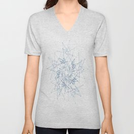 blue espiral Unisex V-Neck