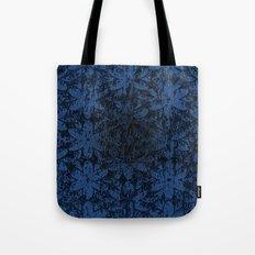 Blue Halftone Flowers II Tote Bag