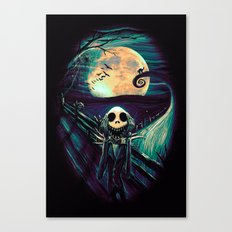 The Scream Before Christmas Canvas Print