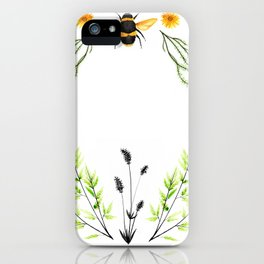 Bees in the Garden - Watercolor Graphic iPhone Case