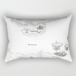 STORM SIREN Original Map (bk 1) Rectangular Pillow