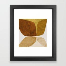 Gold Flower Framed Art Print