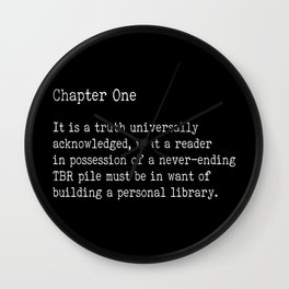 Chapter One - Black Wall Clock