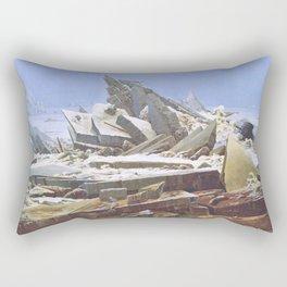 The Sea of Ice - Caspar David Friedrich Rectangular Pillow