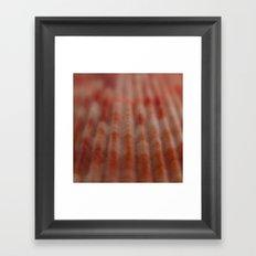 Red shell Framed Art Print