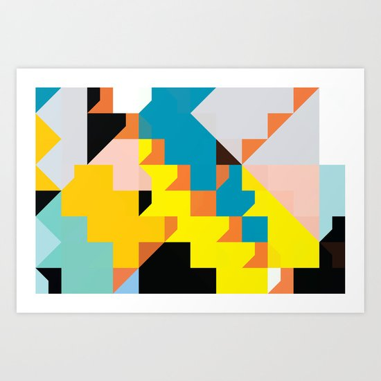 color story - cannonade Art Print