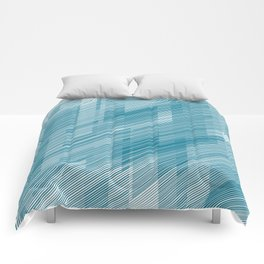 The Blue Hash - Geometric Pattern Comforters