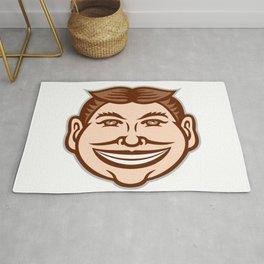 Funny Face Front Icon Retro Rug