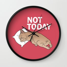 Lazy Frenchie Wall Clock