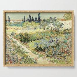 Vincent Van Gogh : Garden at Arles Serving Tray