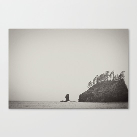 Beach Black and White Canvas Print