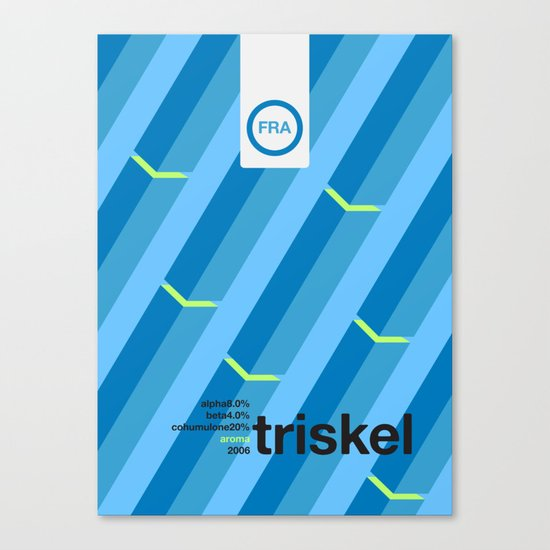 triskel single hop Canvas Print