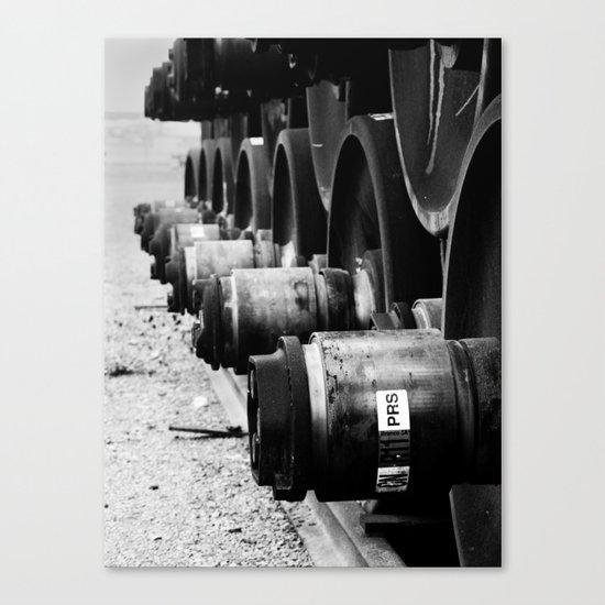 Rail Wheel Canvas Print