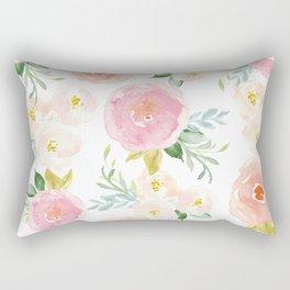 Sweet Pink Blooms (Floral 02) Rectangular Pillow