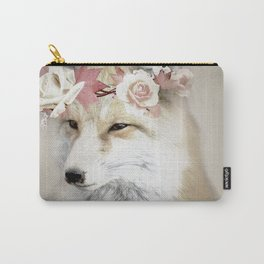 Flower Fox Carry-All Pouch