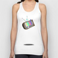 tv Tank Tops featuring tv by Nate Galbraith