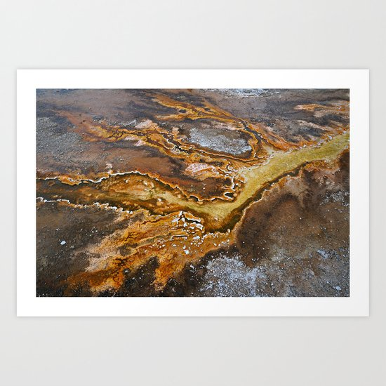 Geyser Hill at Old Faithful Art Print