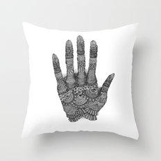 the Creating Hand Throw Pillow
