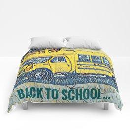 Back to School - The Yellow School Bus Comforters