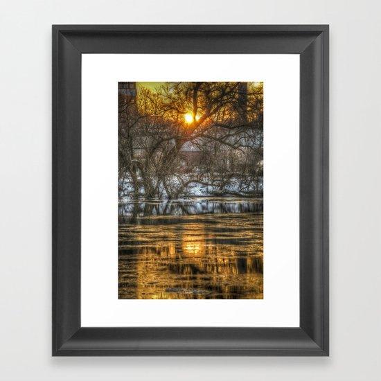 Berlin winter sunset Framed Art Print