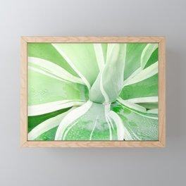 Green leaf photography Morning dew I Framed Mini Art Print