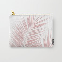 Blush Pink Palm Leaves Dream - Cali Summer Vibes #1 #tropical #decor #art #society6 Carry-All Pouch