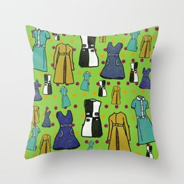 1960 Dress Fashion Throw Pillow