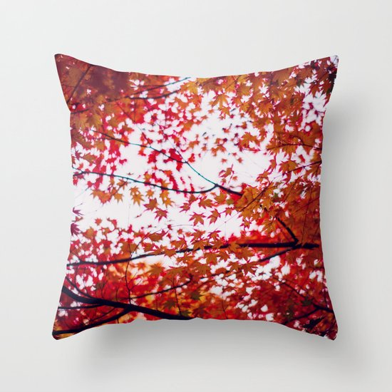 up in the trees you'll find peace Throw Pillow