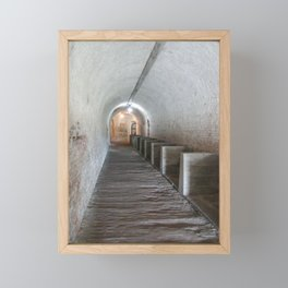 Tunnel in Fort Pickens Framed Mini Art Print