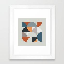 Mid Century Geometric 11 Framed Art Print