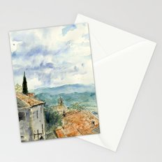 A View of Lacoste, France Stationery Cards