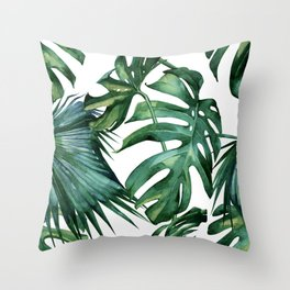 Simply Island Palm Leaves Throw Pillow