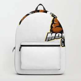 Monkey Gunner Esport Mascot Logo Design Backpack