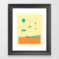 FLOCK OF PENGUINS Framed Art Print