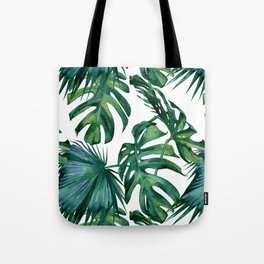 Classic Palm Leaves Tropical Jungle Green Tote Bag