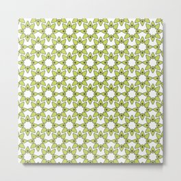 Avocado Tile Print Metal Print