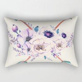 Floral Arrows Rectangular Pillow