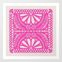 Fiesta de Flores Pink Art Print