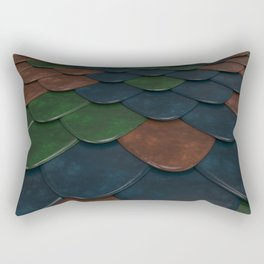 Pattern of colorful rounded roof tiles Rectangular Pillow