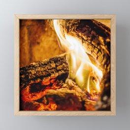 Burn Framed Mini Art Print
