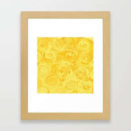 Honey Yellow Roses Abstract Framed Art Print