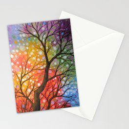 Abstract Art Landscape Original Painting ... Bursting Sky Stationery Cards