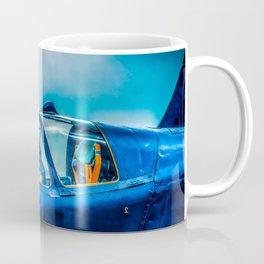 Cockpit Of A Modern Fighter Plane. Blue Colors. Aviation Art Coffee Mug
