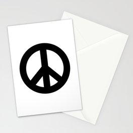Black on White CND Peace Symbol Stationery Cards